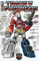 Transformers (Ongoing) #0 - Botcon Exclusive Optimus Prime Schematic Variant Cover